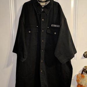Men's 2xl black button down shirt